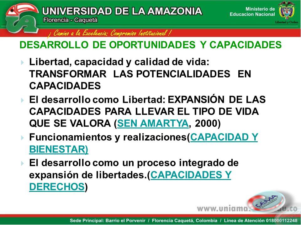 DESARROLLO DE OPORTUNIDADES Y CAPACIDADES