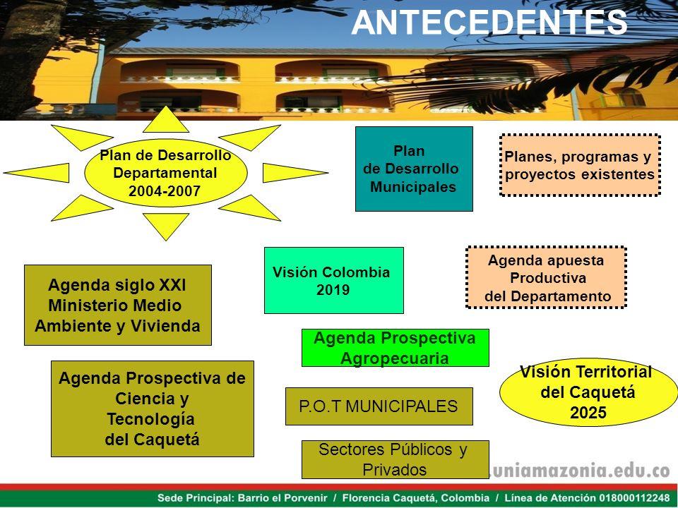 ANTECEDENTES Agenda siglo XXI Ministerio Medio Ambiente y Vivienda