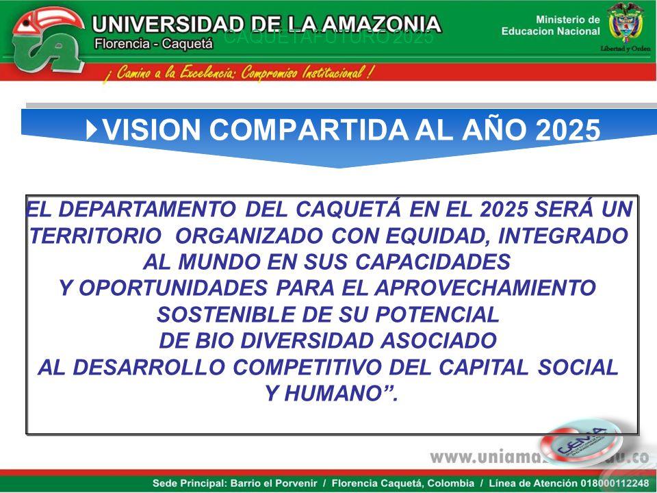 VISION COMPARTIDA AL AÑO 2025