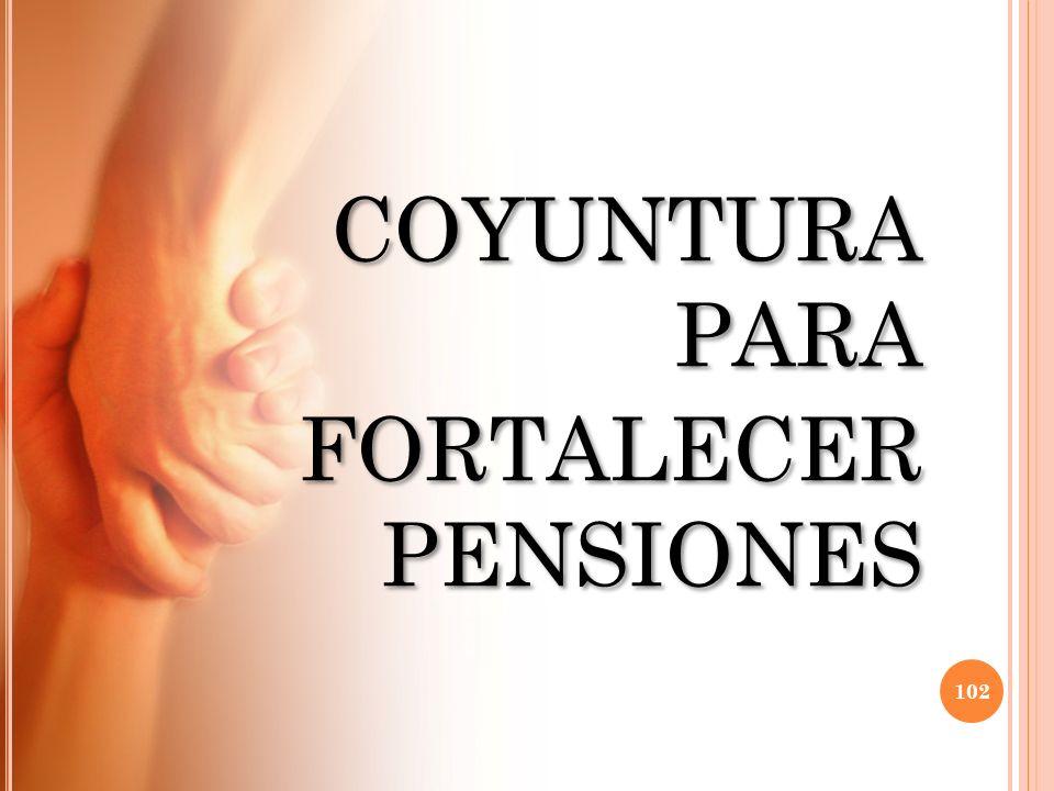COYUNTURA PARA FORTALECER PENSIONES