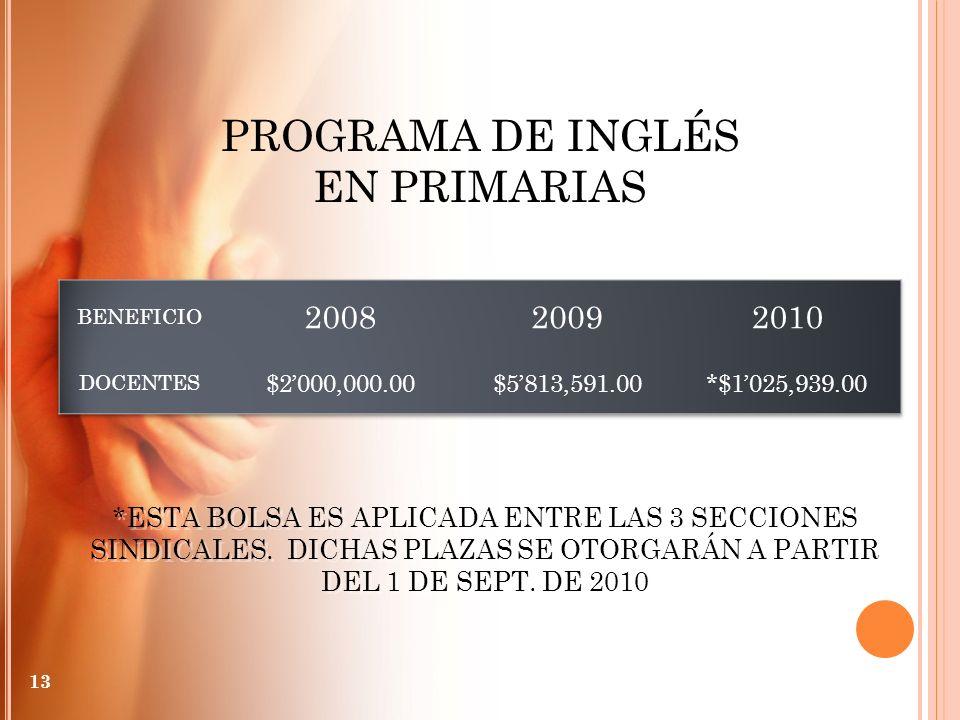 PROGRAMA DE INGLÉS EN PRIMARIAS