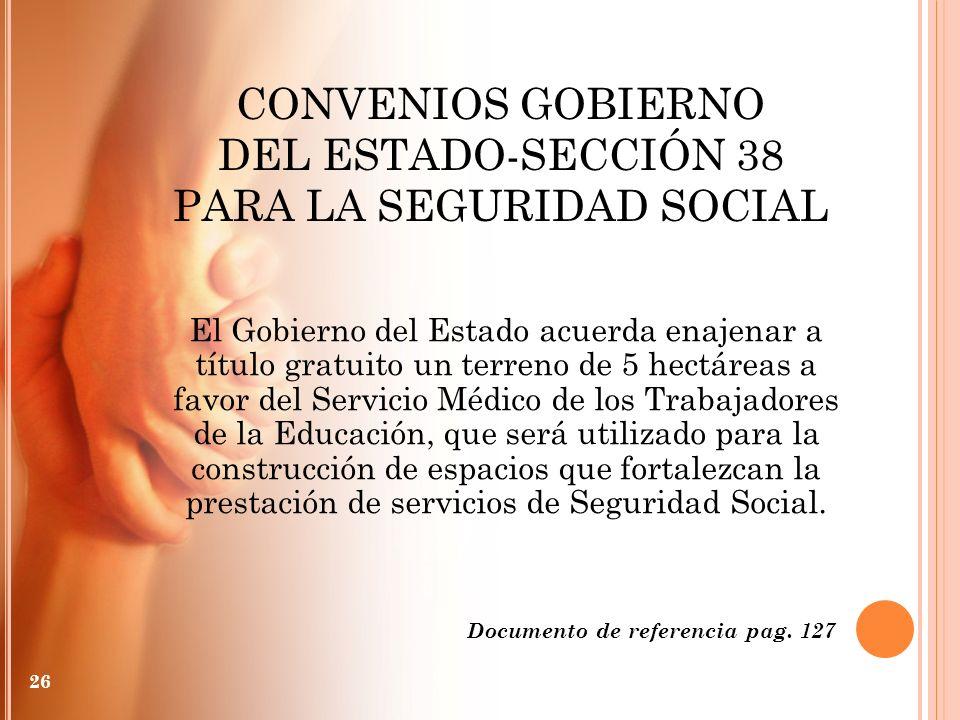 PARA LA SEGURIDAD SOCIAL