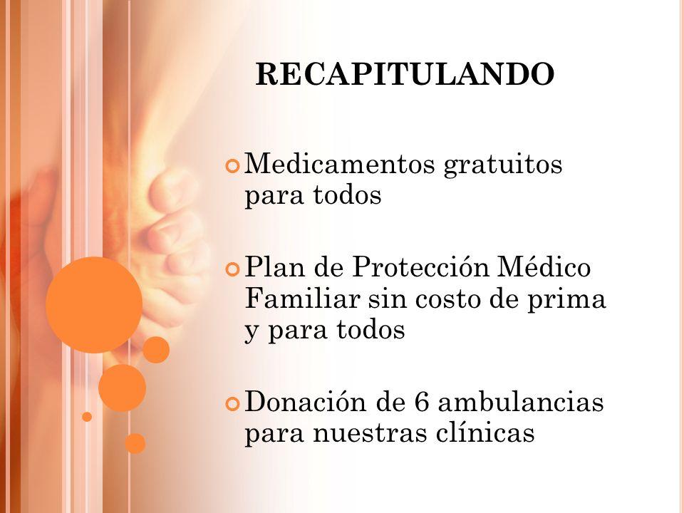 RECAPITULANDO Medicamentos gratuitos para todos
