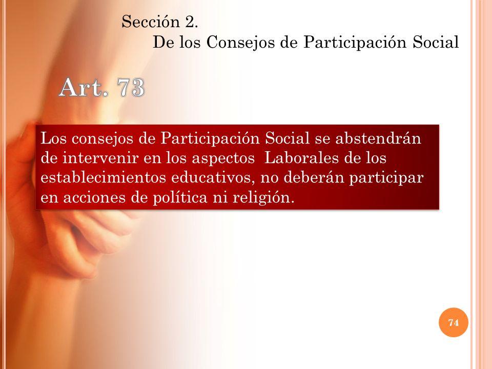 De los Consejos de Participación Social