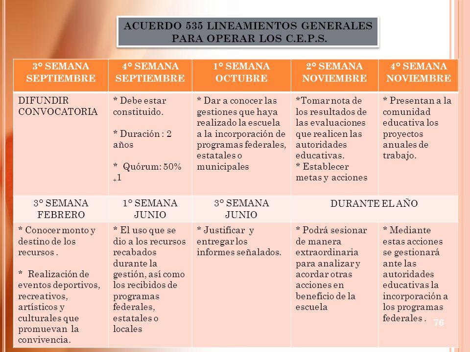 ACUERDO 535 LINEAMIENTOS GENERALES