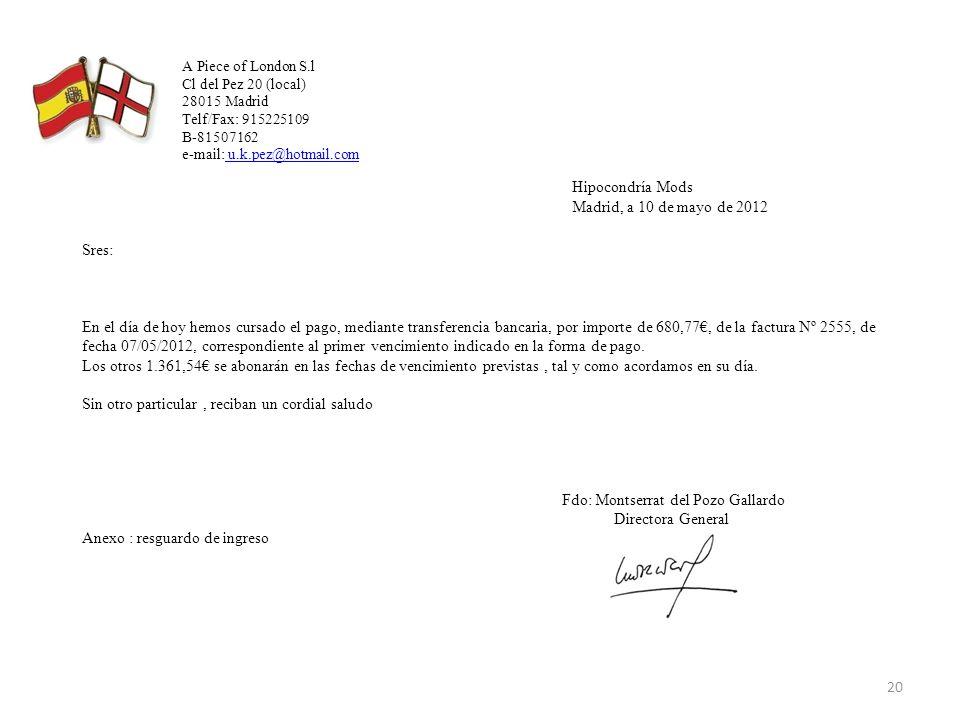 Hipocondría Mods Madrid, a 10 de mayo de 2012