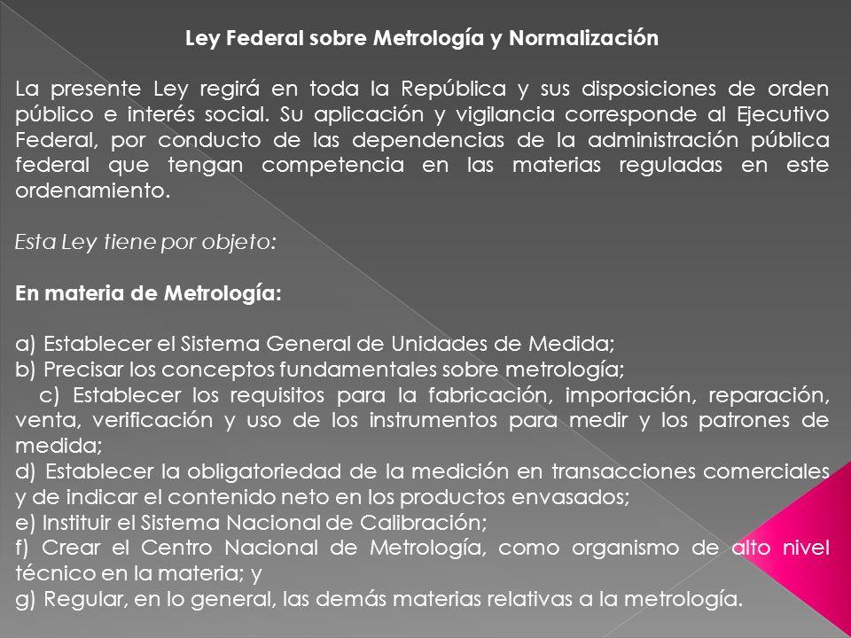 Ley Federal sobre Metrología y Normalización