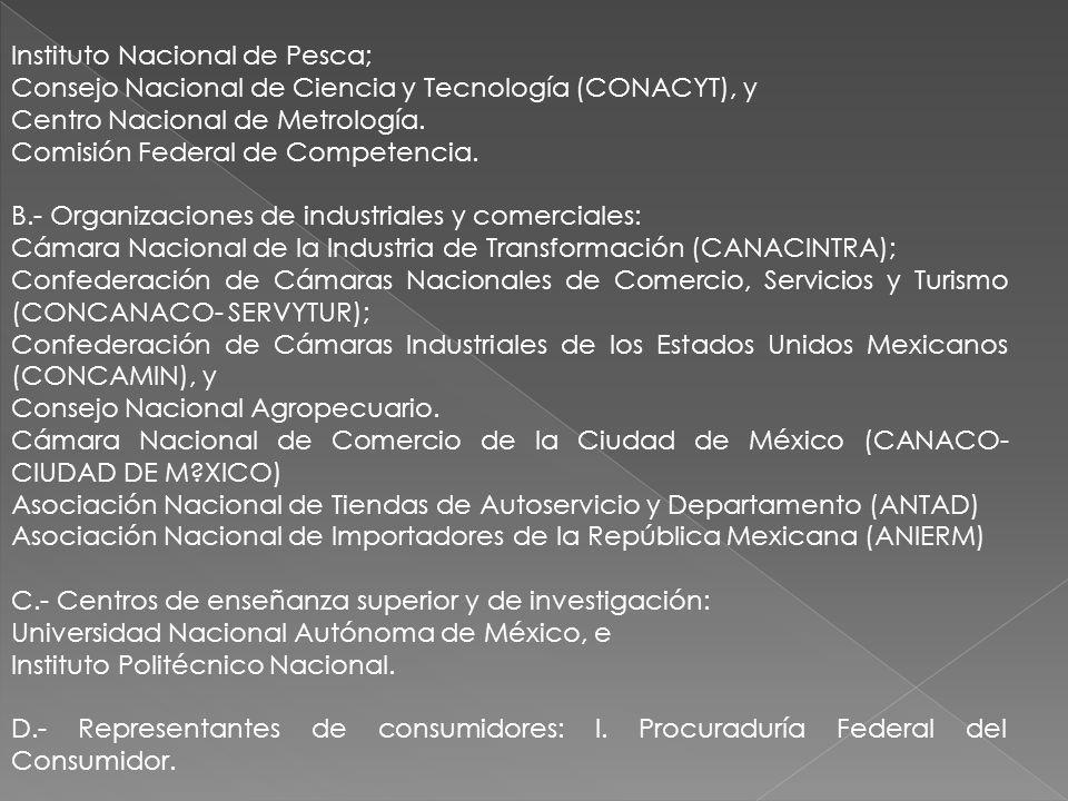 Instituto Nacional de Pesca;
