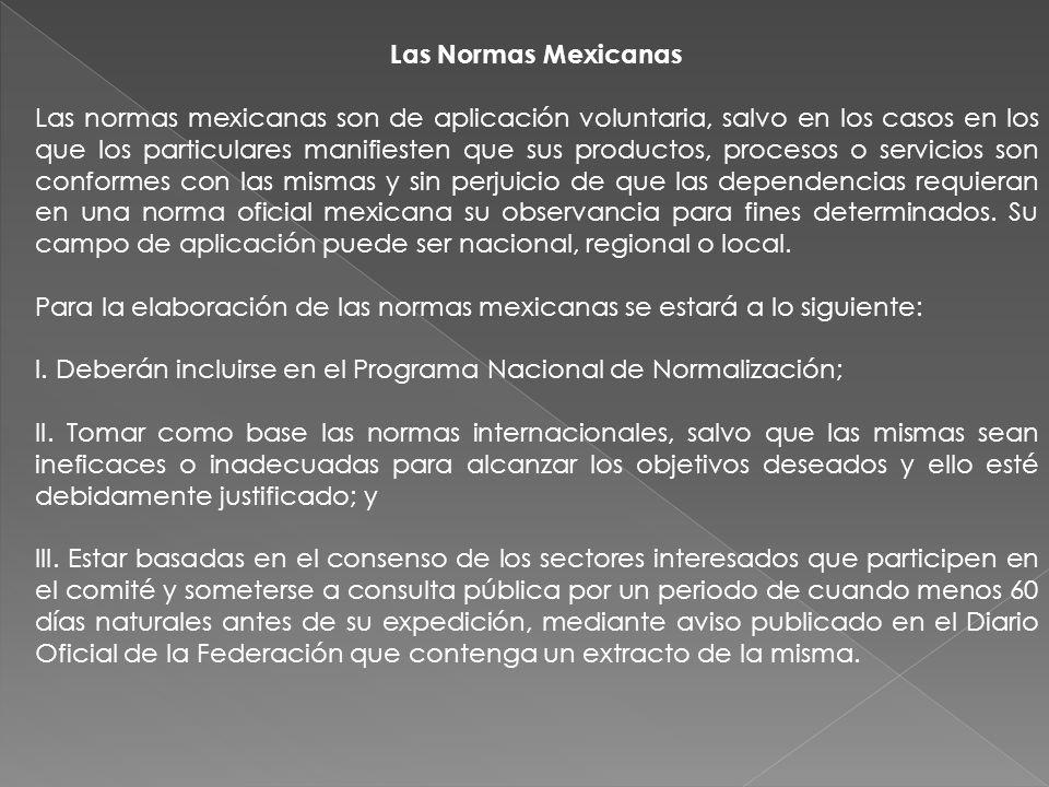 Las Normas Mexicanas