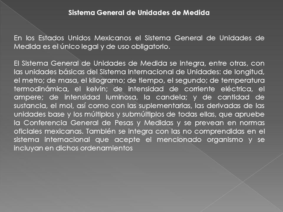 Sistema General de Unidades de Medida