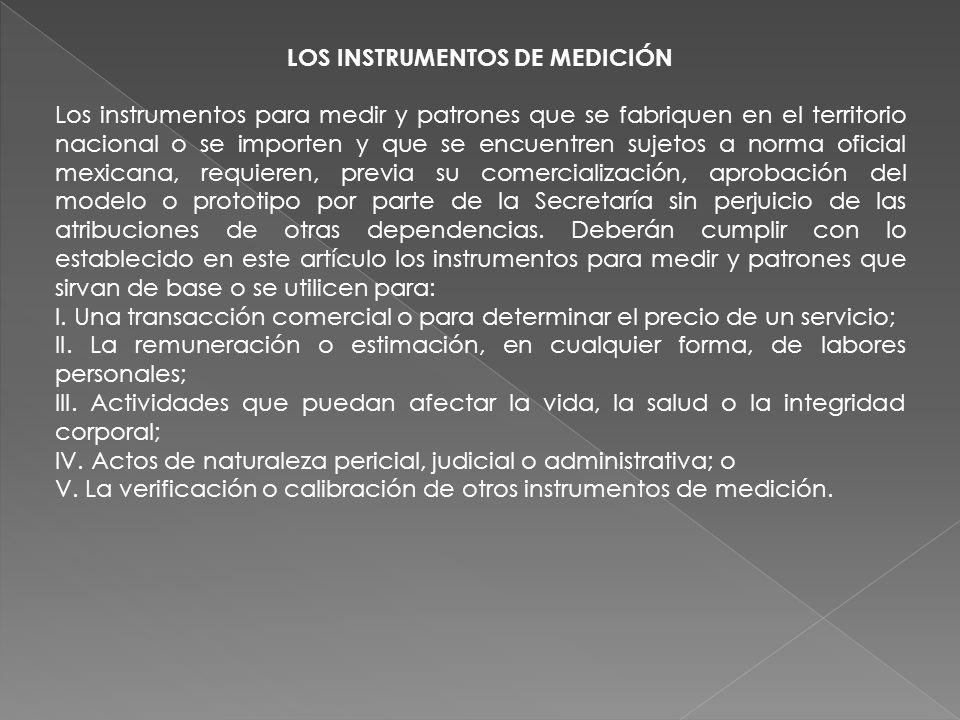 LOS INSTRUMENTOS DE MEDICIÓN