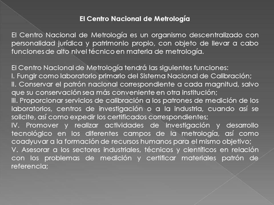 El Centro Nacional de Metrología