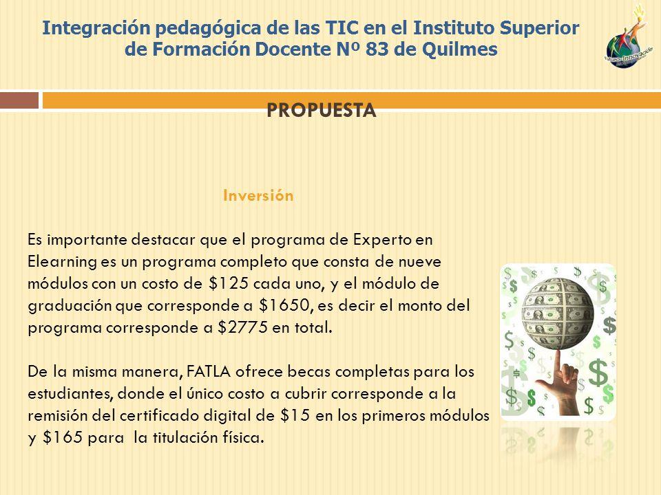 Integración pedagógica de las TIC en el Instituto Superior de Formación Docente Nº 83 de Quilmes