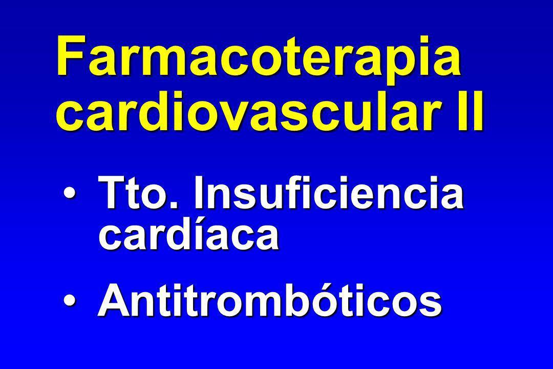 Farmacoterapia cardiovascular II Tto. Insuficiencia cardíaca