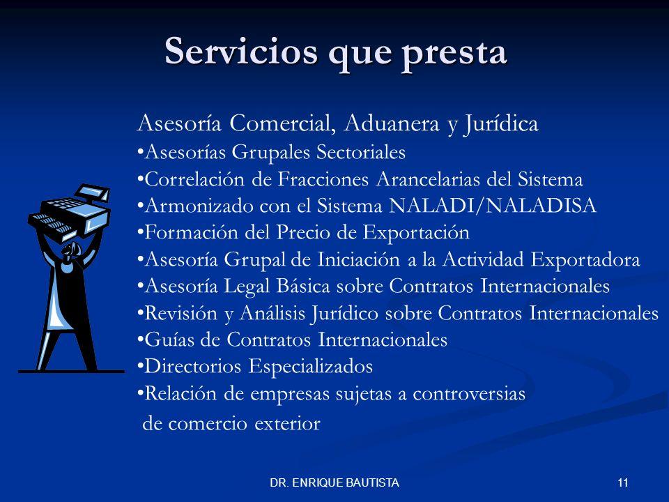 Servicios que presta Asesoría Comercial, Aduanera y Jurídica