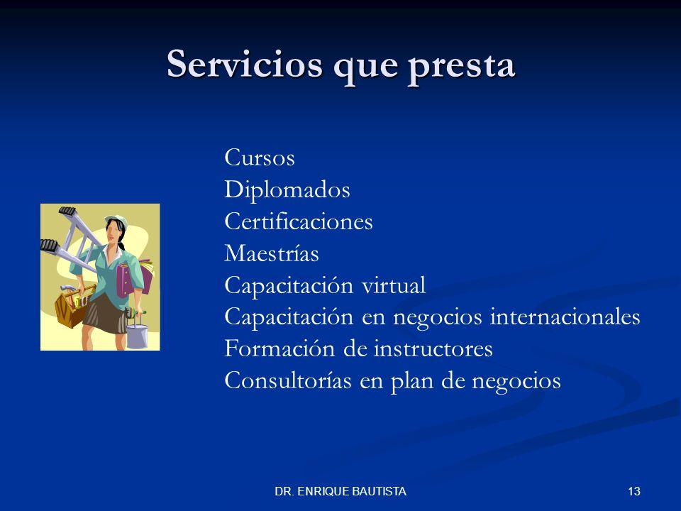 Servicios que presta Cursos Diplomados Certificaciones Maestrías