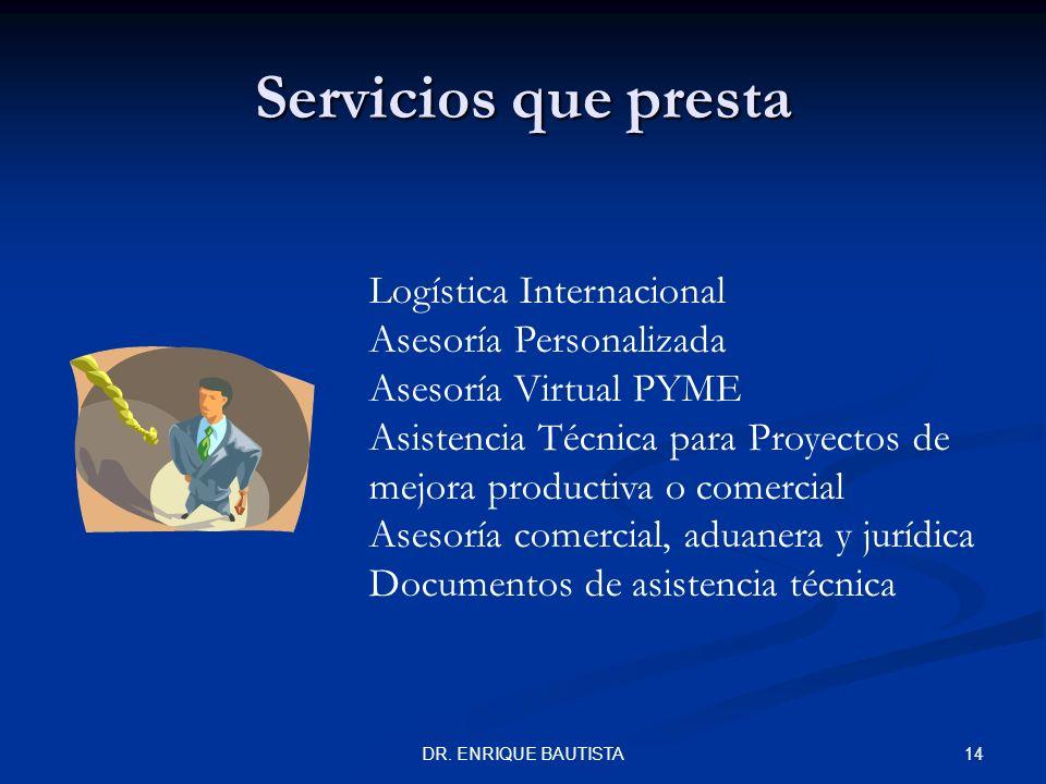 Servicios que presta Logística Internacional Asesoría Personalizada