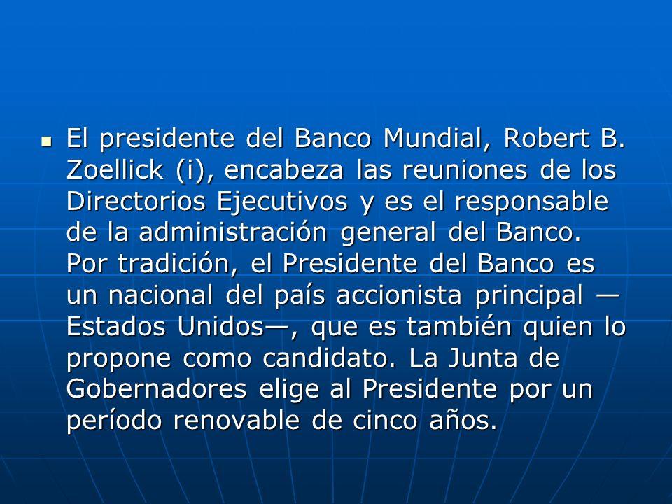 El presidente del Banco Mundial, Robert B