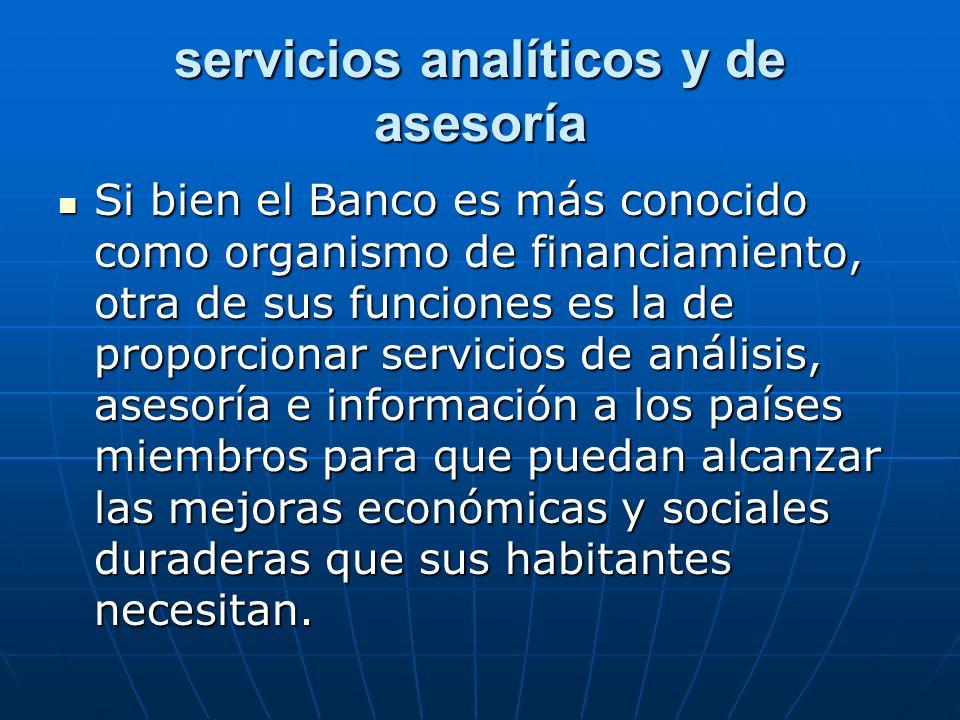 servicios analíticos y de asesoría