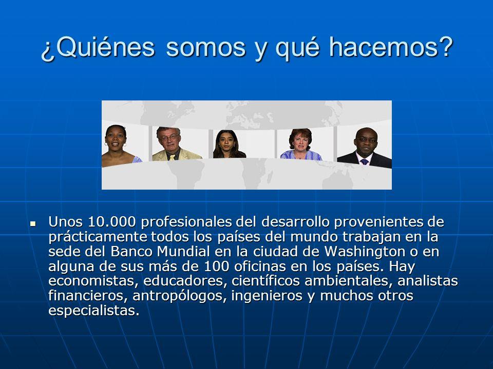 Banco mundial ppt descargar for Oficinas de banco financiero