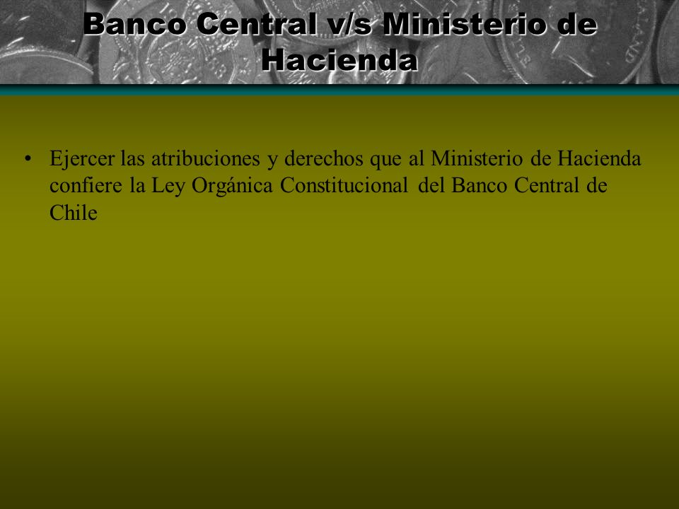 Banco Central v/s Ministerio de Hacienda