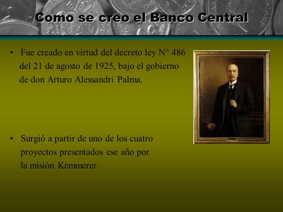 Como se creo el Banco Central
