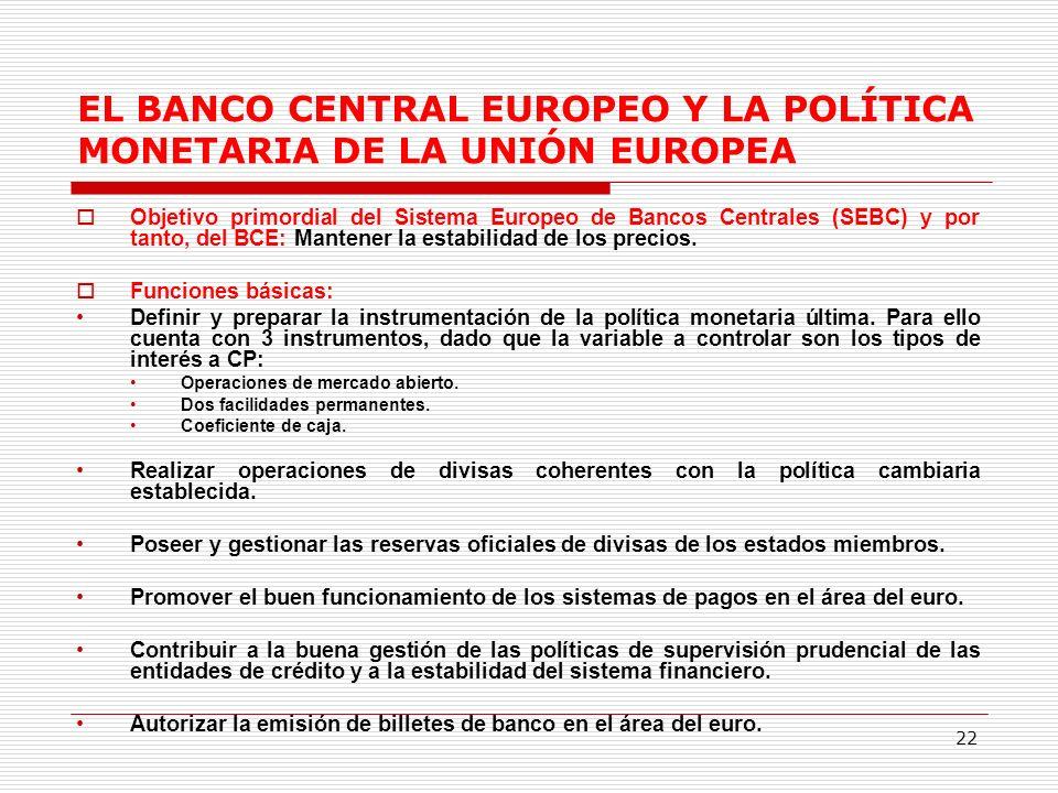 EL BANCO CENTRAL EUROPEO Y LA POLÍTICA MONETARIA DE LA UNIÓN EUROPEA