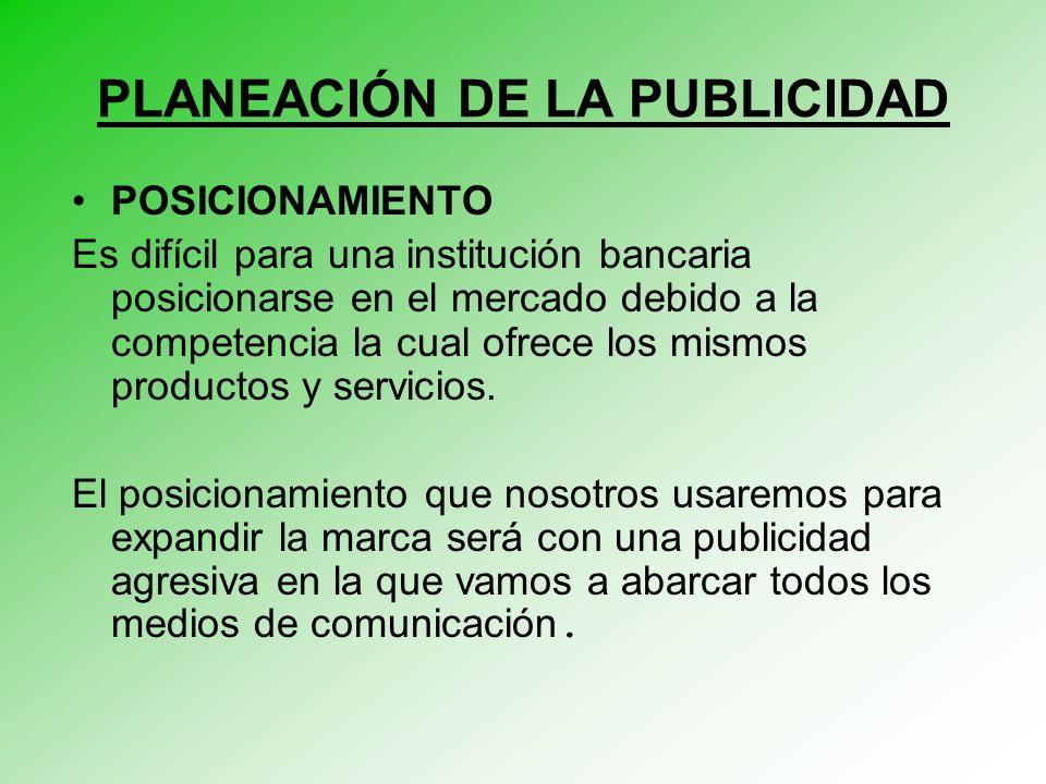 PLANEACIÓN DE LA PUBLICIDAD