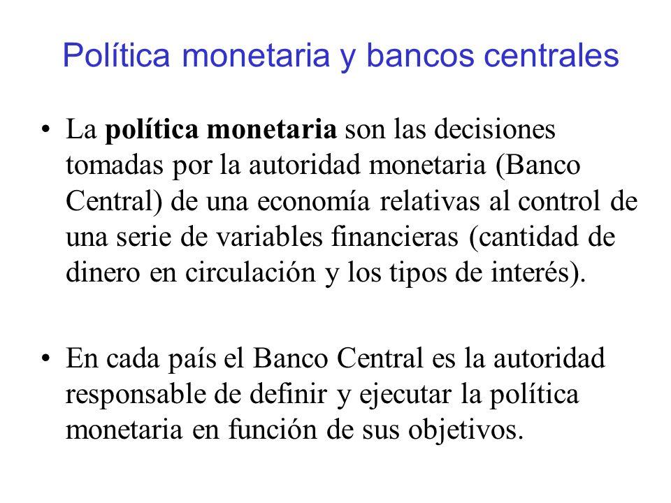 Política monetaria y bancos centrales