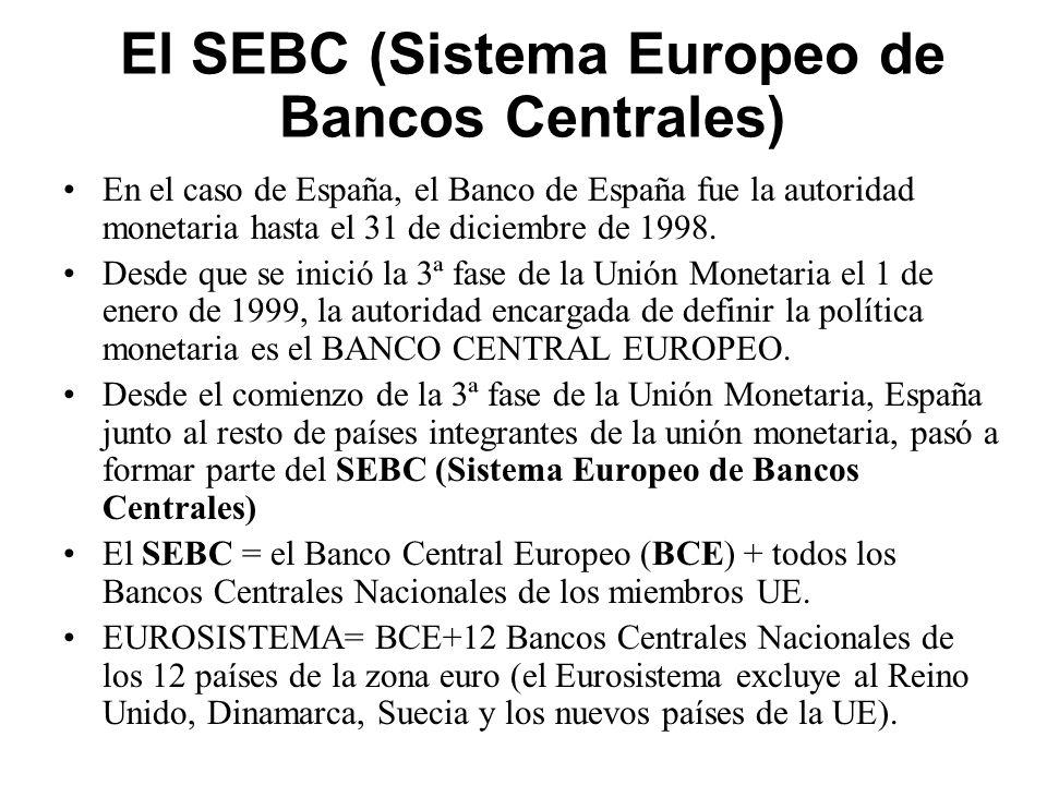 El SEBC (Sistema Europeo de Bancos Centrales)