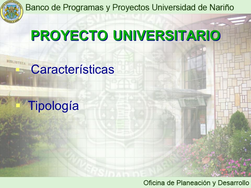 PROYECTO UNIVERSITARIO