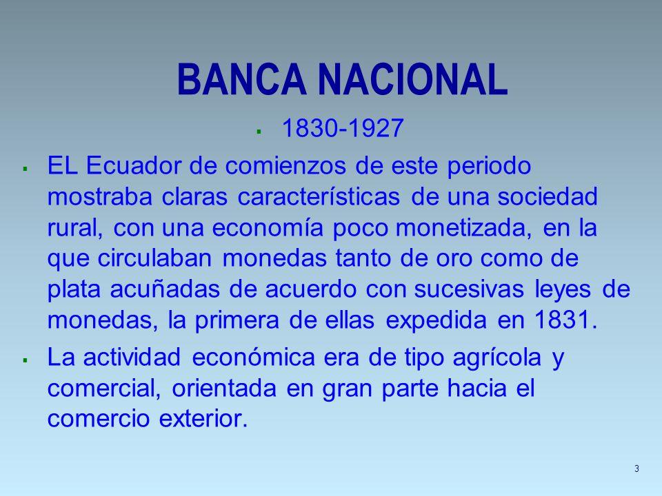 BANCA NACIONAL 1830-1927.