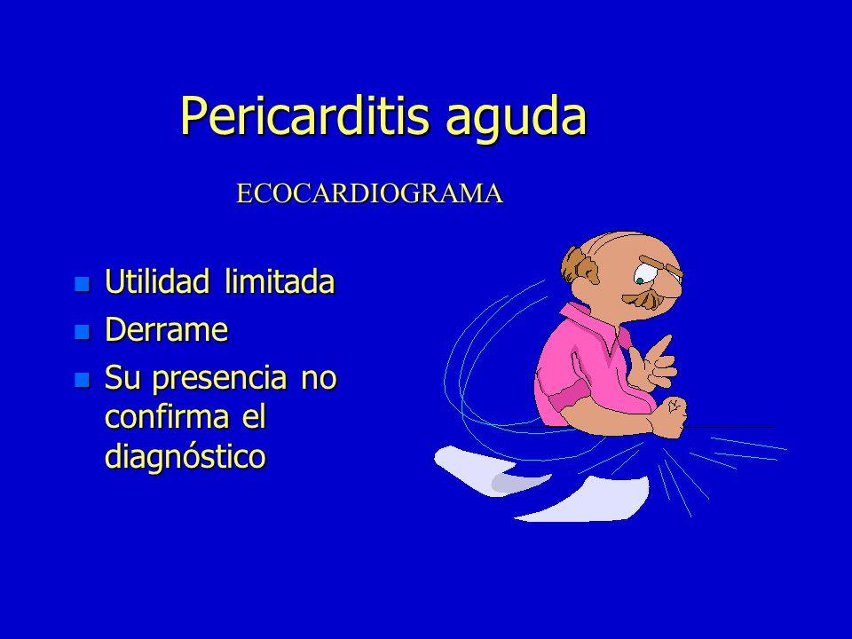 Pericarditis aguda Utilidad limitada Derrame