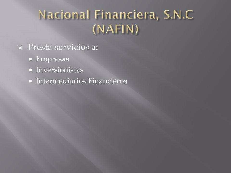 Nacional Financiera, S.N.C (NAFIN)