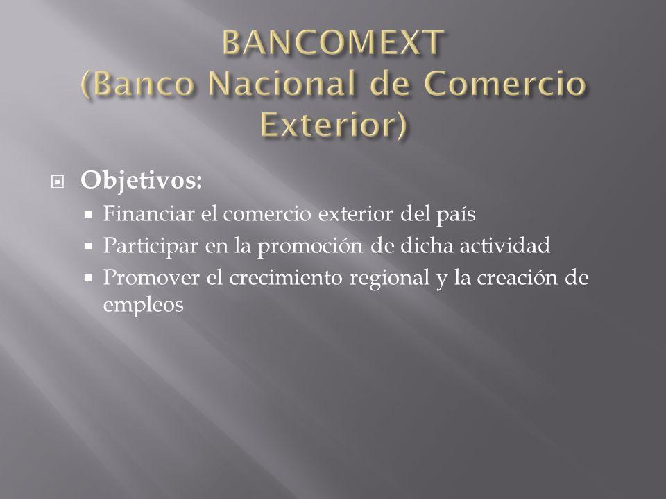 BANCOMEXT (Banco Nacional de Comercio Exterior)