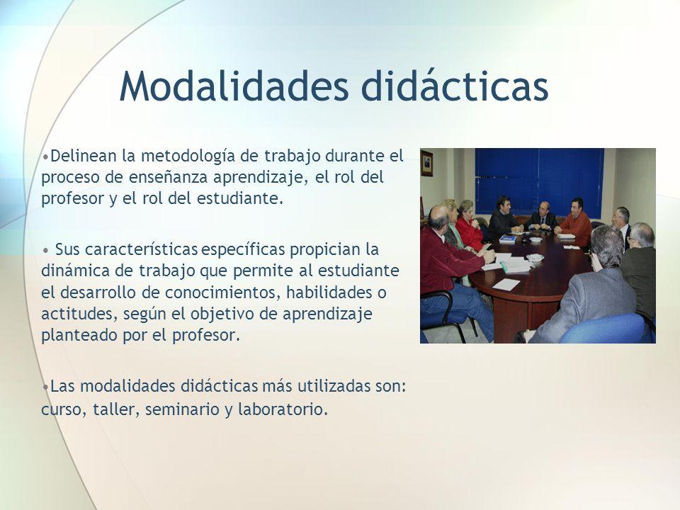 Modalidades didácticas