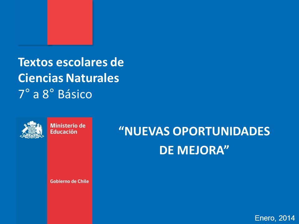 Textos escolares de Ciencias Naturales 7° a 8° Básico