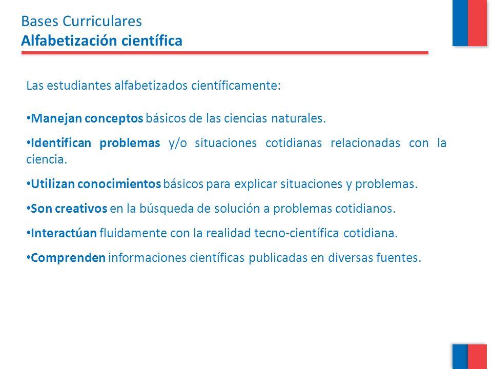 Bases Curriculares Alfabetización científica
