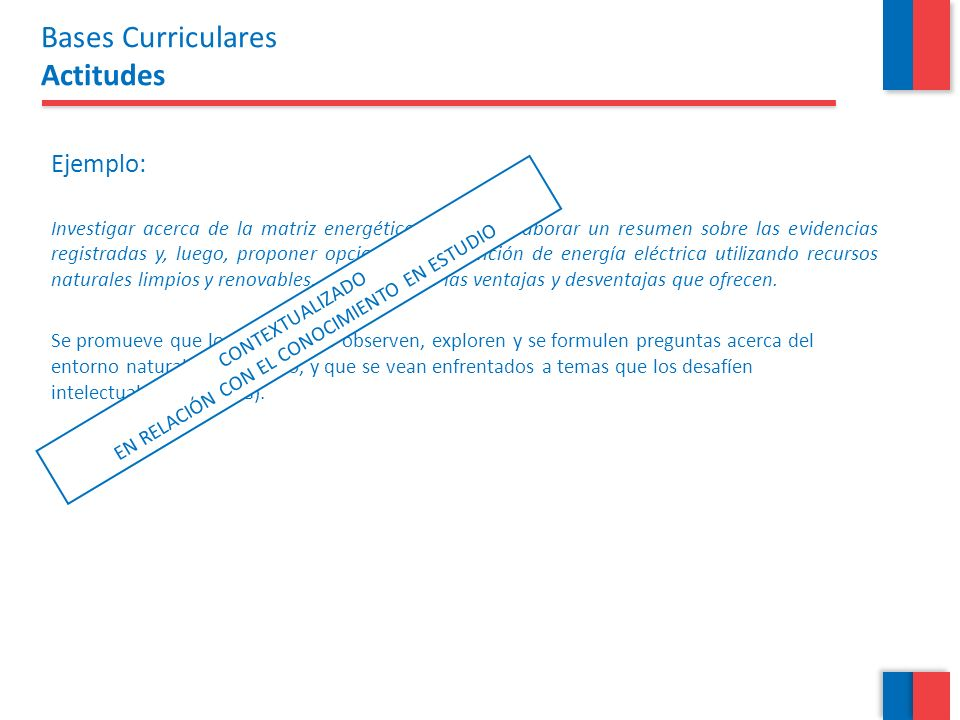 Bases Curriculares Actitudes