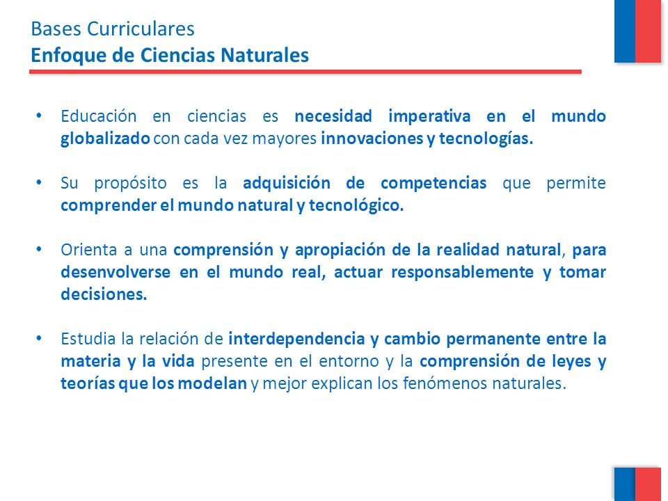 Bases Curriculares Enfoque de Ciencias Naturales