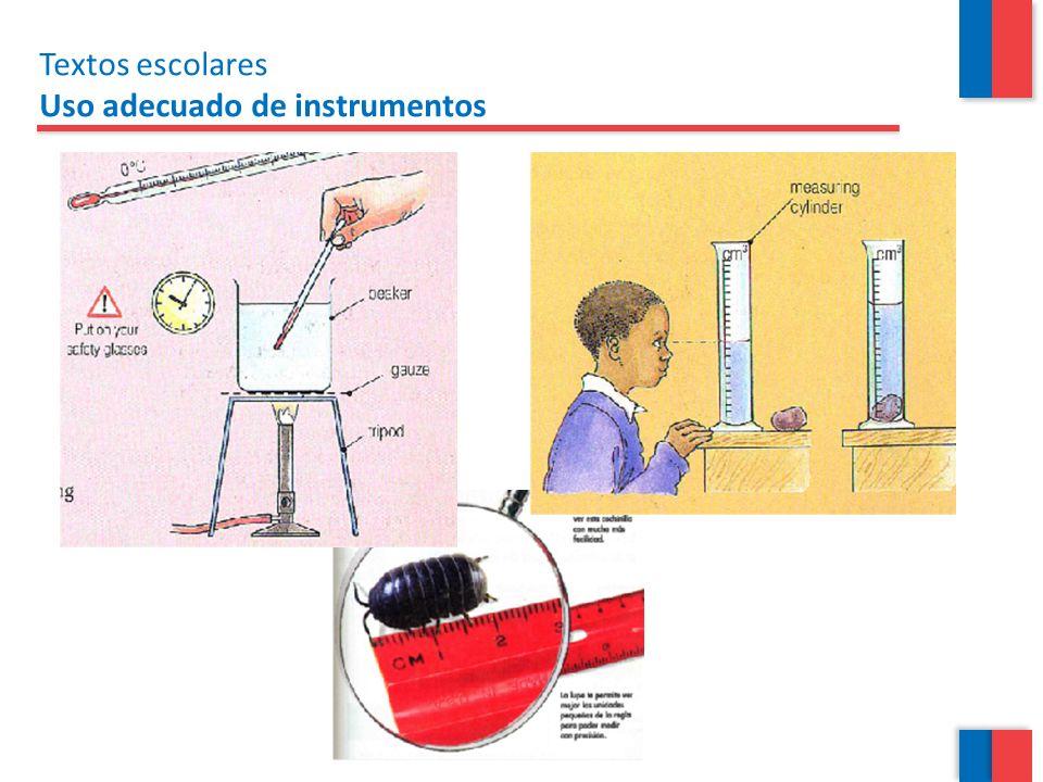 Textos escolares Uso adecuado de instrumentos