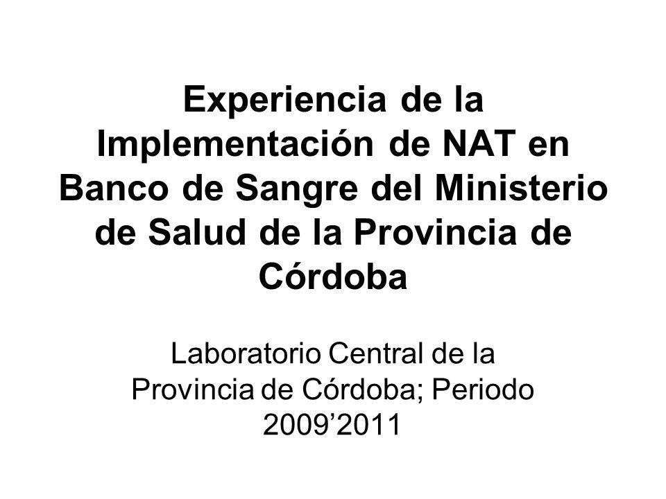 Laboratorio Central de la Provincia de Córdoba; Periodo 2009'2011
