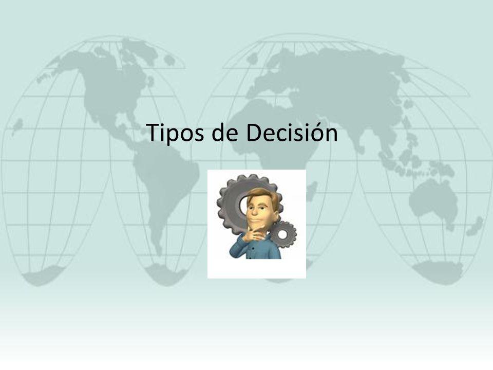 Tipos de Decisión