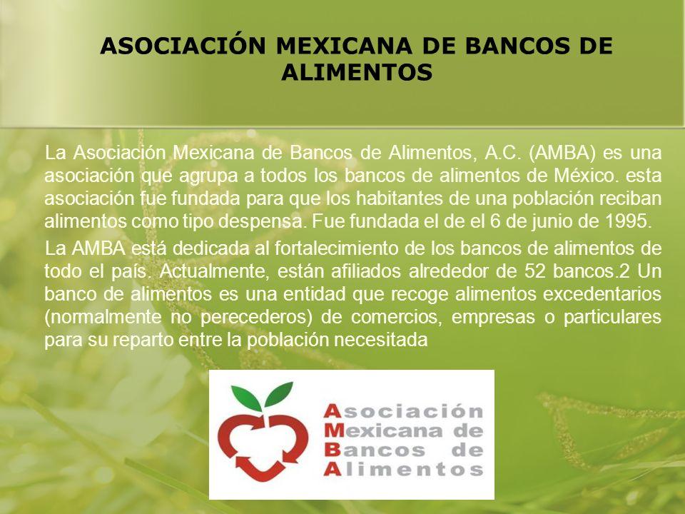 ASOCIACIÓN MEXICANA DE BANCOS DE ALIMENTOS