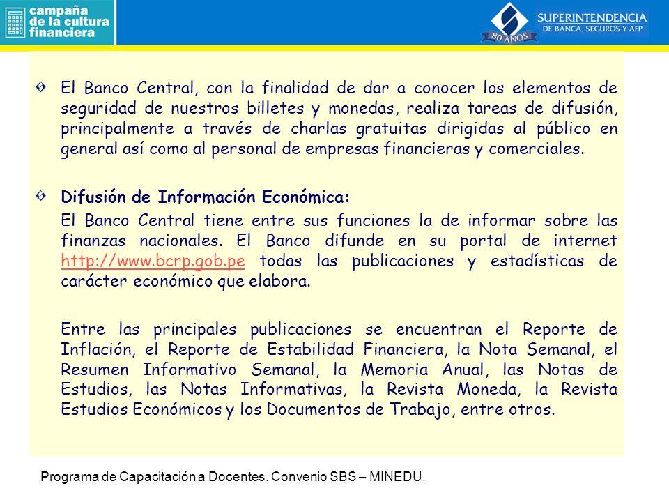 Difusión de Información Económica: