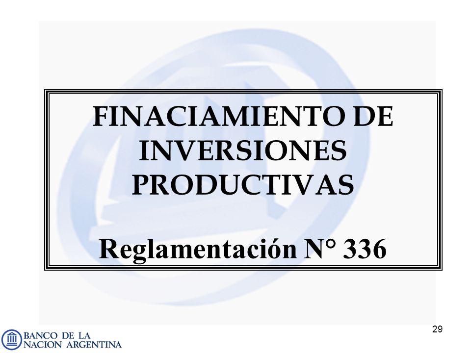FINACIAMIENTO DE INVERSIONES PRODUCTIVAS