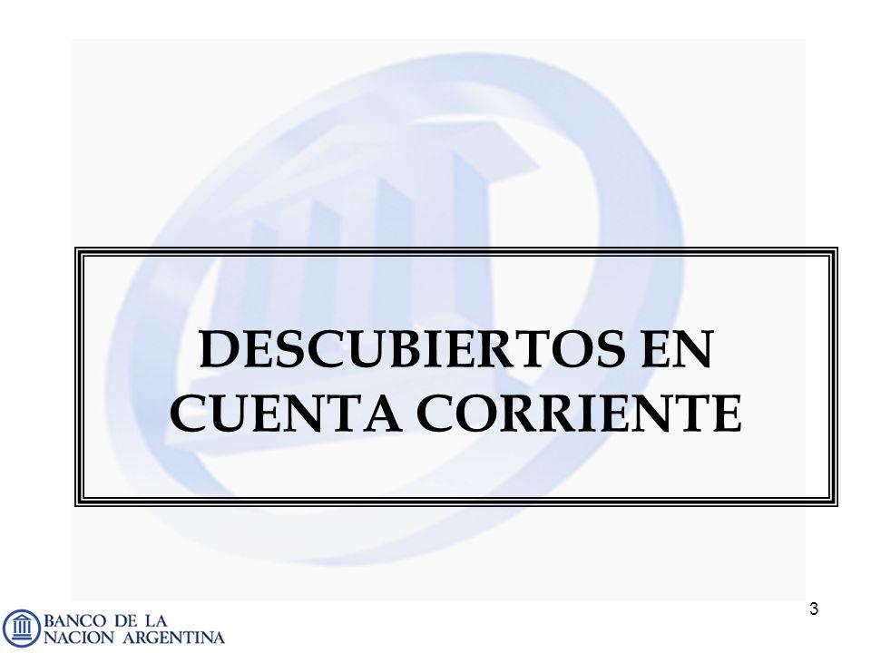 DESCUBIERTOS EN CUENTA CORRIENTE