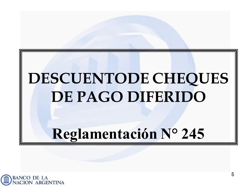 DESCUENTODE CHEQUES DE PAGO DIFERIDO