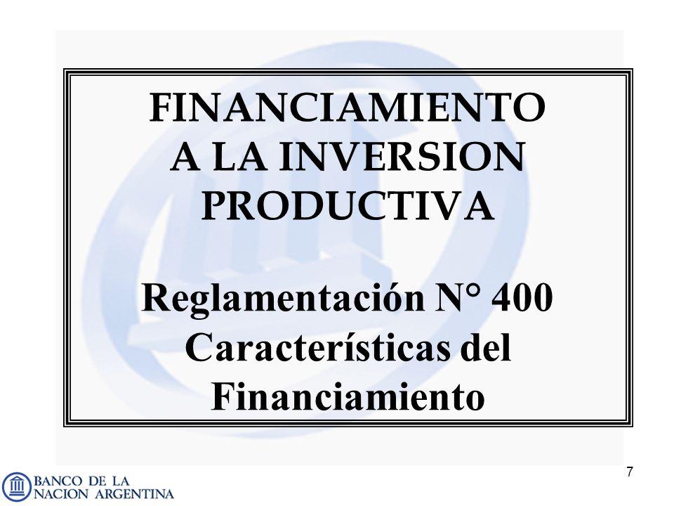Características del Financiamiento