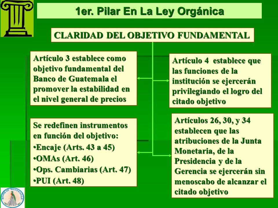 1er. Pilar En La Ley Orgánica